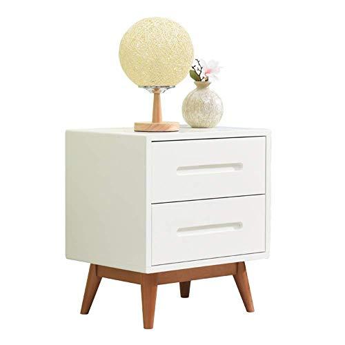 Soul hill nachtkastje nachtkastje eindtafel met lade opslag dennen voor thuis, kantoor, DORM (kleur: wit, maat: een maat)