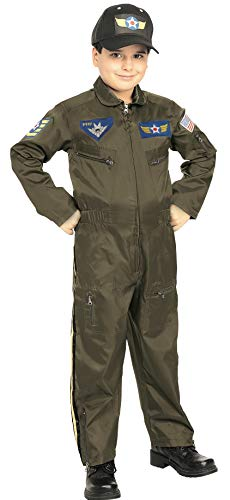 Rubies Young Heroes Air Force Fighter Pilot Child Costume, Toddler, One Color
