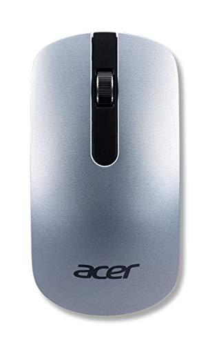 Acer Wireless Maus (Thin & Light, kabellos, optisch, 1.200 DPI, elegantes Design) silber
