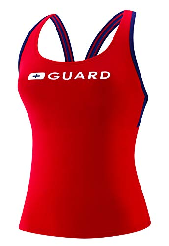 Speedo Damen Guard Badeanzug Tankini Top Endurance, Damen, Badeanzug, Guard Tankini Endurance Lite, US Red, X-Small