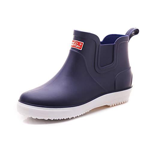 [TIOSEBON] レインシューズ メンズシューズ レインブーツ 雨靴 ショートブーツ 防水 滑り止め PVC 軽量 無地 歩きやすい 梅雨対策 雪の日 豪雨 通勤通学 春靴 カジュアル 履きやすい ネイビー 26cm