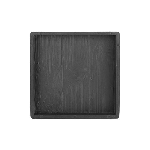 @tec Betonform Schalungsform Gießform Plastikformen für Beton, Terrassenplatte - Trittsteinplatte - Gehwegplatte - Betonplatte - Trittstein Holzoptik 30x30x3 cm
