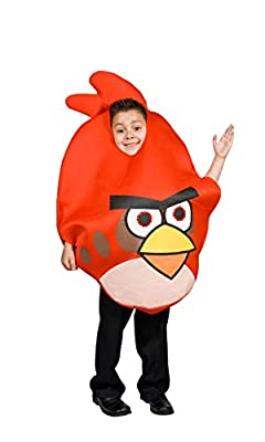 Angry Bird Costume Red for Kids Light up Eyes Size S M 4 5 6 7 8 9 (S 4-7)