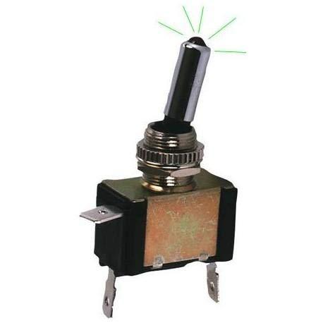 Interrupteur On-Off Metal avec LED Vert - ADNAuto