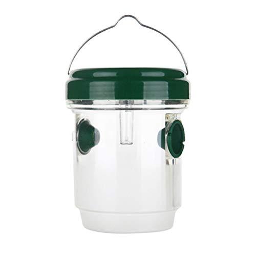 Yissone Wespenfallenfänger Bienenfalle Solarbetriebener Wespenfallenfänger Killer Effektiv Und Wiederverwendbar mit LED-Licht für Hausgarten Obstgärten Farmen Und Mehr 1Pc