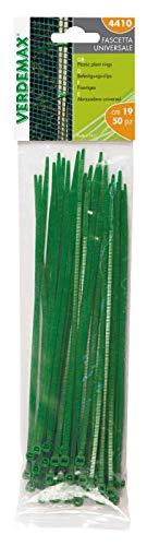 Verdemax 4410 190 mm à Verrouillage de câble – Vert (Lot de 50)