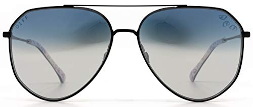 DIFF Eyewear - Dash - Designer Aviator Sunglasses for Men & Women - 100% UVA/UVB [Polarized] (Taco Bell + Cool Blast)