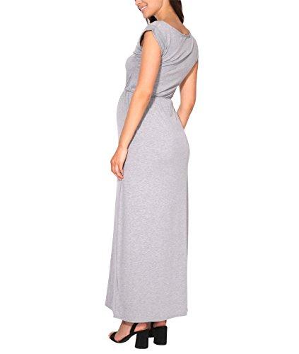 KRISP Vestido Mujer Tallas Grandes Largo Barato Casual Ibicenco De Día Ropa Hippie Online Ofertas, (Gris (3269), 36 EU (08 UK)), 3269-GRY-08