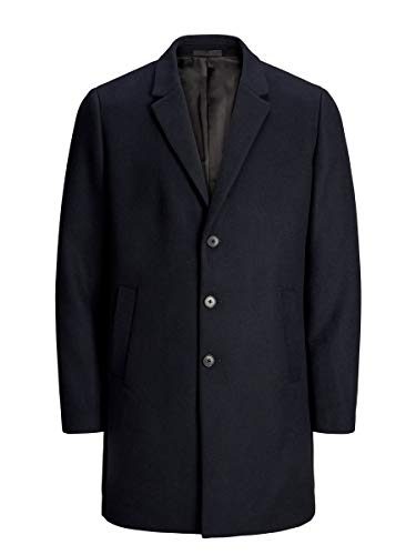 JACK & JONES JJEMOULDER WOOL COAT STS Cappotto di lana, navy scuro, M Uomo