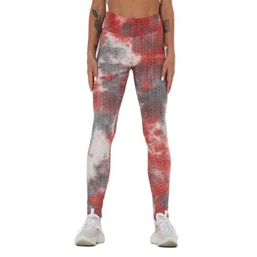 QTJY Pantalones de Yoga Deportivos con Levantamiento de Cadera de Cintura Alta para Mujer, Leggings de Yoga Push-up de Color, Leggings para Correr de Secado rápido y Estiramiento HL