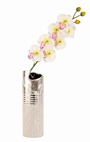 Moderne Vase décoratif Vase en céramique argent Hauteur 30cm
