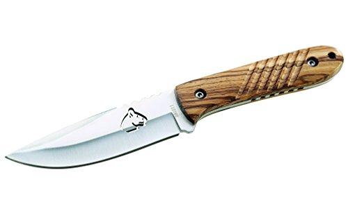 Puma TEC Couteau de Ceinture, AISI 420, Zebrawood, Fourreau en Cuir