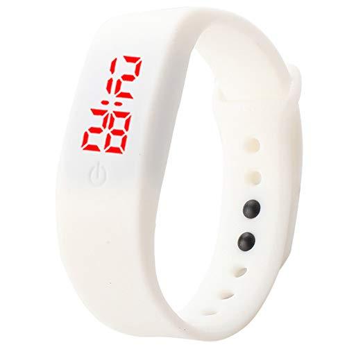 Reloj digital electrónico con correa de silicona para niños con pantalla LED