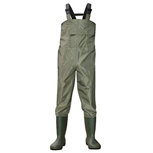 FZFRXF Pantalones de Agua Impermeables para Adultos Pantalones de Agua Pantalones de Pesca Pantalones de Pescadores Zapatos de Agua de Doble Rodilla Pantalones