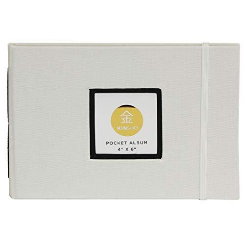"Kinsho Pocket Albums, 4"" x 6"", Ivory"