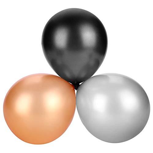 Zerodis 30Stks/Set 3-kleuren Ballon Set Zwart Zilver Gouden Gecombineerde Ballonnen Latex Ballonnen voor Festival Bruiloft Verjaardag Party Decoratie