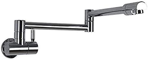 YBQ. Exquisite Küchenmischer Waschbecken Tap Küche Wasserhahn Allcopper Wandhahn Einzelne kalte Küche Waschbecken Waschbecken Teleskop-Rotationshahn Lange Faltwasserhahn