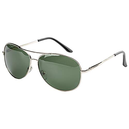 Aviator Sunglasses for Men Women Polarized for Driving Fishing Sports Party Outdoor UV 400 Protection Green and Black Color only one Random Delivery