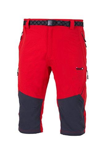 IZAS LOGAR Short de Trekking Homme, Rouge/Gris Foncé, FR : 2XL (Taille Fabricant : XXL)