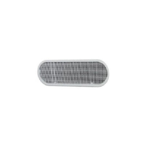 Soffit Vent 4x12in White Oval