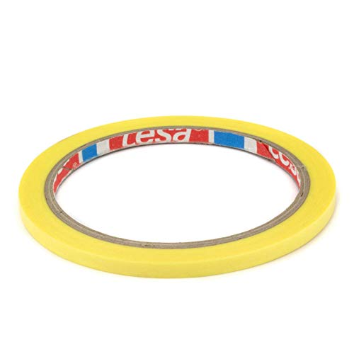DonDo tesa 4334 Präzisionskrepp Plus Profi Maler Abdeckband gelb Konturenband 5mm x 25 Meter
