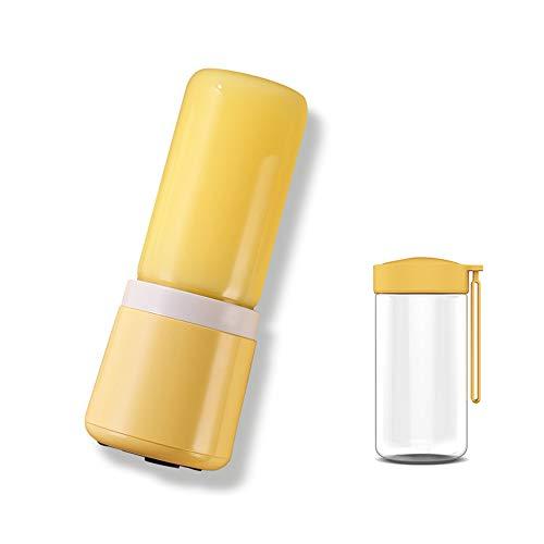 ZTCWS Mini portátil batidora, licuadora Blender Puede Hacer zumos/Batidos/Shakes and More, Exprimidor Batidora Capacidad 420ml, Jugo USB Recargable Copa Exprimidor Batidora (BPA Libre),Amarillo