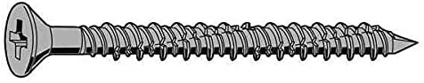 Fabory Anchor Screw Zinc 3 service 4 PK10 1 year warranty Dia Pack of In. 2