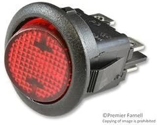 CHERRY RRA32H3BBRLN SWITCH, ROCKER, DPST, 10A, 250V, RED (10 pieces)