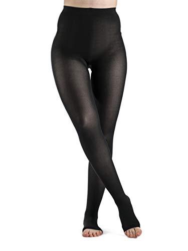 SIGVARIS Women's Style Soft Opaque 840 Open Toe Pantyhose 20-30mmHg