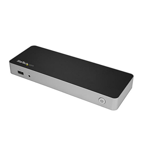 StarTech.com USB-C Dual 4K Monitor Dockingstation für Laptops - DP / HDMI - Windows / Mac - USB 3.0 SD Kartenleser - 60W Power Delivery