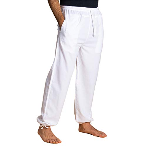 PANASIAM E'Pants Long, Cotton, White, L
