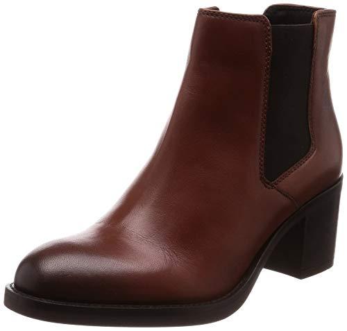 Clarks Mascarpone Bay, Botas Slouch Mujer, Marrón (Tan Leather), 39.5