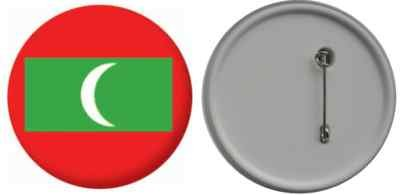 MadAboutFlags Button/Badge Flagge Fahne Malediven - 58mm