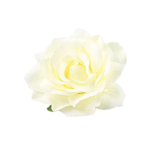 Unbekannt Fleur Rose épingle à Cheveux Pince à Cheveux Femmes Barrette Fleur Pin Up Broche pour Mariage Accessoire de Cheveux de Plage de mariée par TheBigThumb, Beige