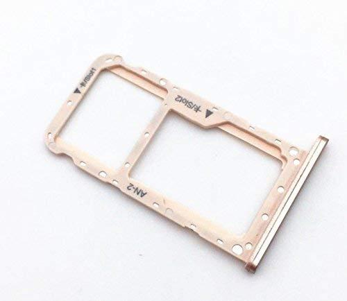 Voor Huawei P20 Lite ALLOGGIO ADAPTER SLOT SIM TRAY CARRELON VANO SCHEDE NANO SIM1 + opslagvak Micro SD of SIM2 (GOLD ORO)