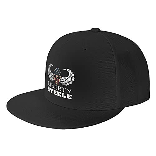 Liberty Steele Black Baseball Cap Flat Hat Pop It Adjustable Fashion Hats Make The