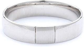 Breuning 18K White Shiny & Brushed Finish Wedding Ring [BR7048]