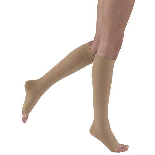 JOBST - Calcetines de compresión unisex para hombre y mujer, hasta la rodilla, 30-40 mmHg, color beige