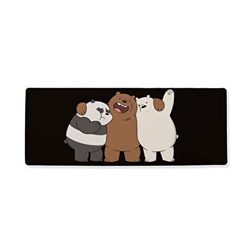 We-Bare-Bears Mousepad, Print Mouse Mat Mouse Pad Office Mousemat Mousepads with Design Desk Accessory Office Gift 16x35.5Inch