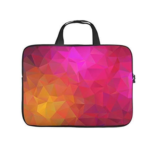 Gradient Triangles Yellow Pink Geometric Abstract Laptop Bag Wear-Resistant Laptop Carrying Bag Pattern Notebook Bag for University Work Business