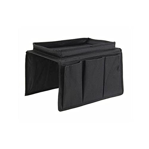 KoelrMsd Sofa Armrest Organizer With 4 Pockets And Cup Holder Tray Couch Armchair Hanging Storage Bag For TV Remote Control Cellphone