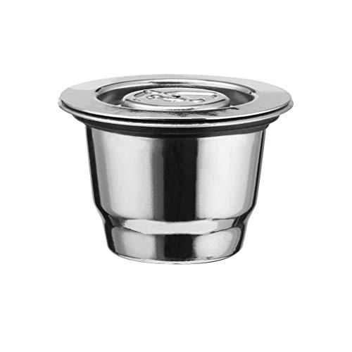 jieGorge Filterbecher RäUmungsverkauf!!!Edelstahl Kaffeefilter Wiederverwendbare Kaffeekapsel Machen für Nespresso