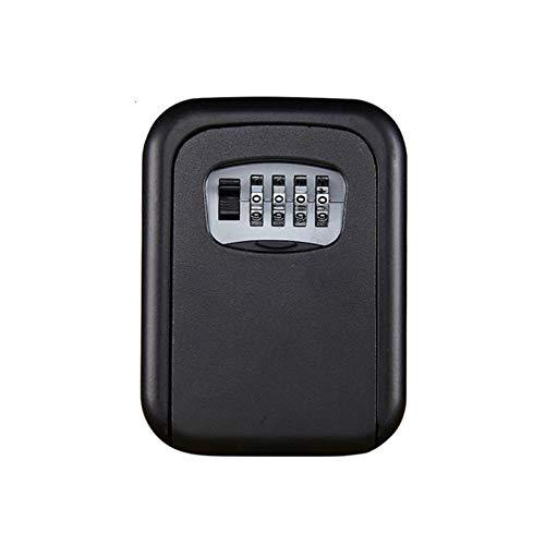 Key Box- Caja de seguridad para llaves con código de dígitos de gran capacidad, para exteriores, montaje en pared, antirrobo, caja fuerte para llaves (tamaño: 12,5 x 9,5 x 4 cm, color: azul)