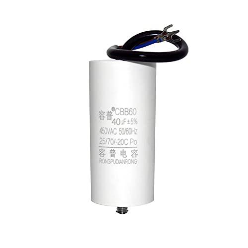 YSJSPKK Condensatori Rondella del compressore d'Aria CBB60 Auto Lavatrice Air Pompa Air Pompa Avvia condensatore 450 V con Viti in Basso (Capacitance : 25UF)