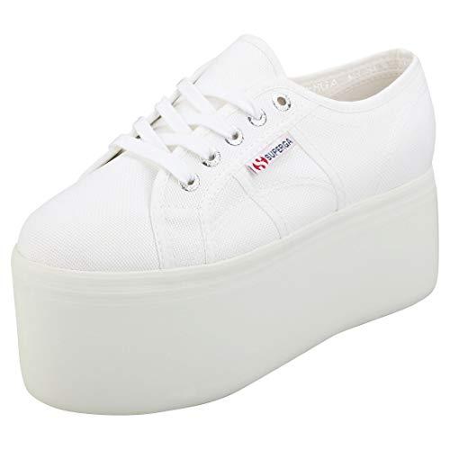 Superga 2802-cotw, Zapatillas de Gimnasia Mujer, Blanco (White 901), 37.5 EU