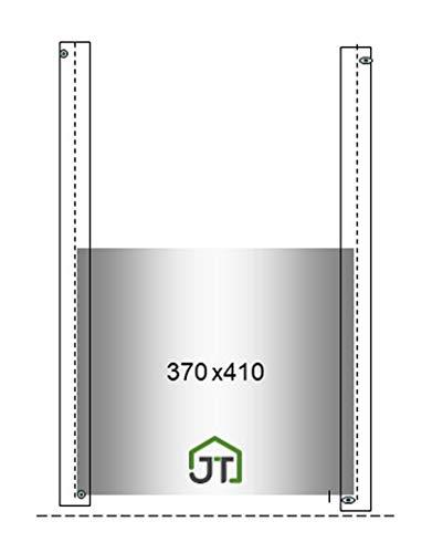 JOSTechnik Hühnerklappe Schieber 410 x 370 mm Bio-Haltung für automatischen Klappensteller