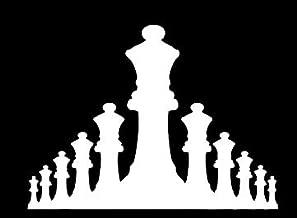 LLI Chess Pieces Silhouette | Decal Vinyl Sticker | Cars Trucks Vans Walls Laptop | White | 5.5 x 4.1 in | LLI1340