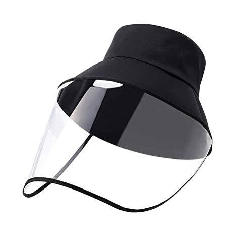Schutz Mütze Fischerhut, Abnehmbar Anti-UV-Sonhut Gesichtschutz Mütze Schutzhutabdeckung Anti Staub, Anti Fog, Anti-Beschlag, Atmungsaktiv perfekt für Outdoor Aktivität Camping