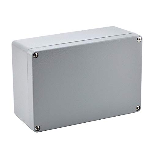 BestTong Aluminum Alloy Metal Large Dustproof Waterproof IP66 Junction Box Extruded Industrial Structure Outdoor Universal Electric Project Enclosure Grey 9.4 x 6.3 x 4 Inches(240mmx160mmx100mm)