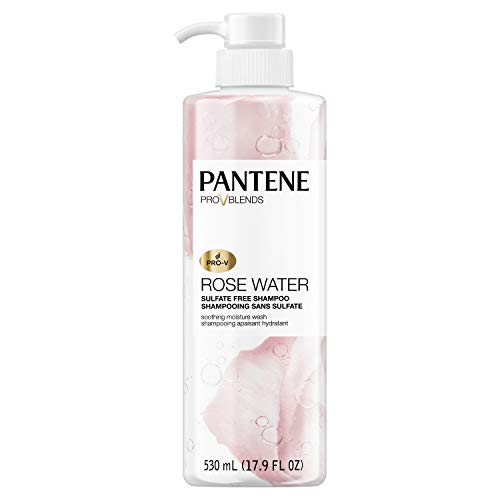 Price comparison product image Pantene,  Shampoo,  Sulfate,  Paraben and Dye Free,  Pro-V Blends,  Soothing Rose Water,  17.9 fl oz